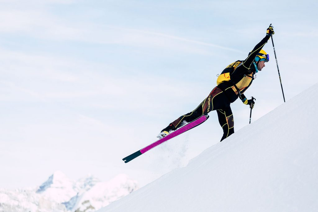 Michele Boscacci was born in Albosaggia, one of those places where skis and skins triumph, a small town in Valtellina that boasts a number of record victories in the world of ski mountaineering