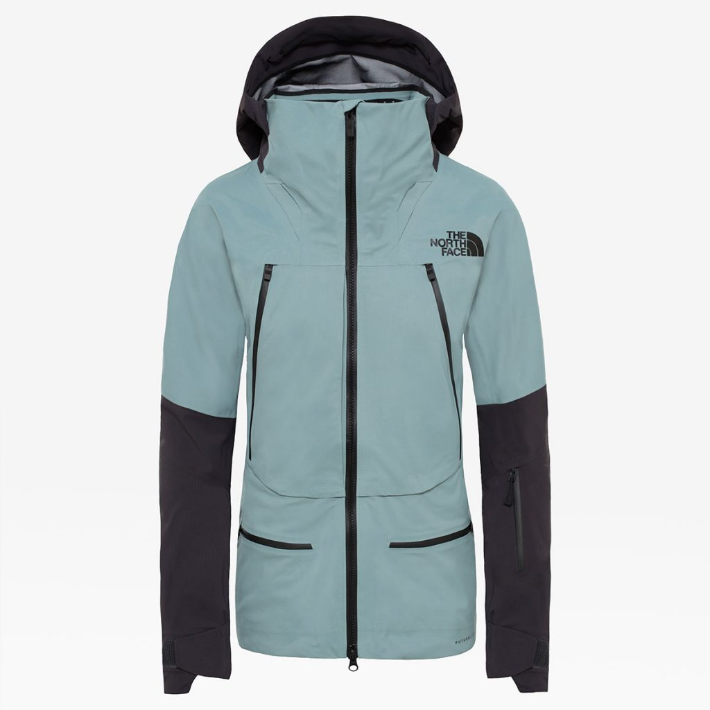 Womens skiing jacket Purist Futurelight by The North Face provides the highest level of durable, breathable and waterproof protection.