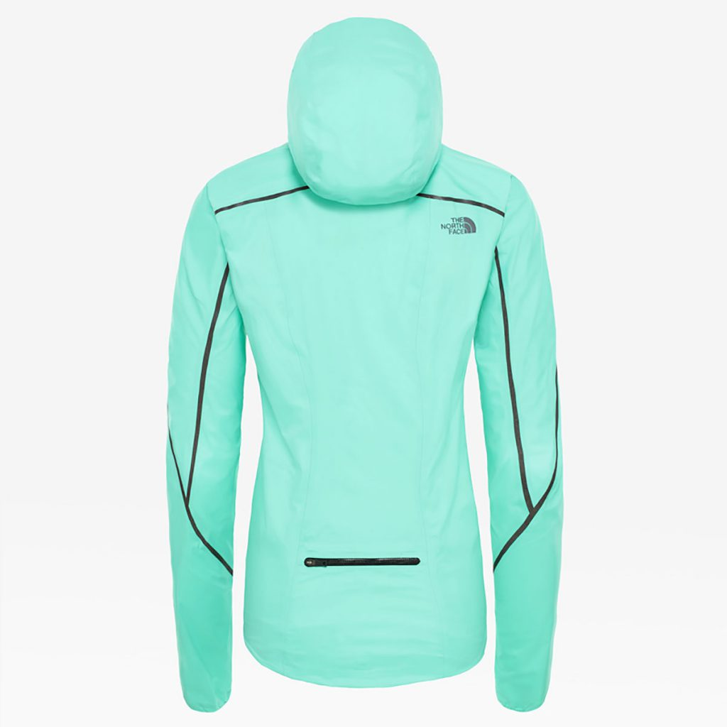 Women's Flight Futurelight trail running jacket by The North Face. Lightweight, packable and quiet, it provides an impenetrable barrier for guaranteed dryness