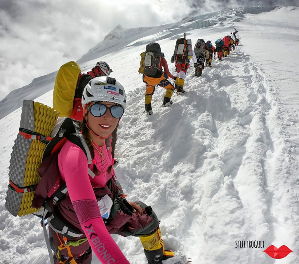 Stefi Troguet on Manaslu: she could see with her eyes those famous pictures of people waiting in queue for reaching the different base camps.