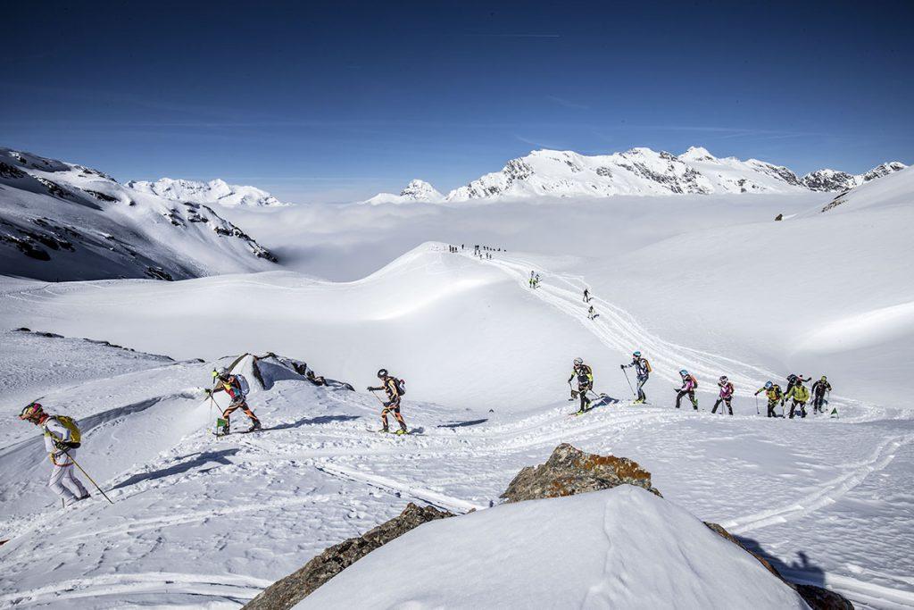 Durante la gara di scialpinismo Millet Tour du Rutor Extrême © Stefano Jeantet