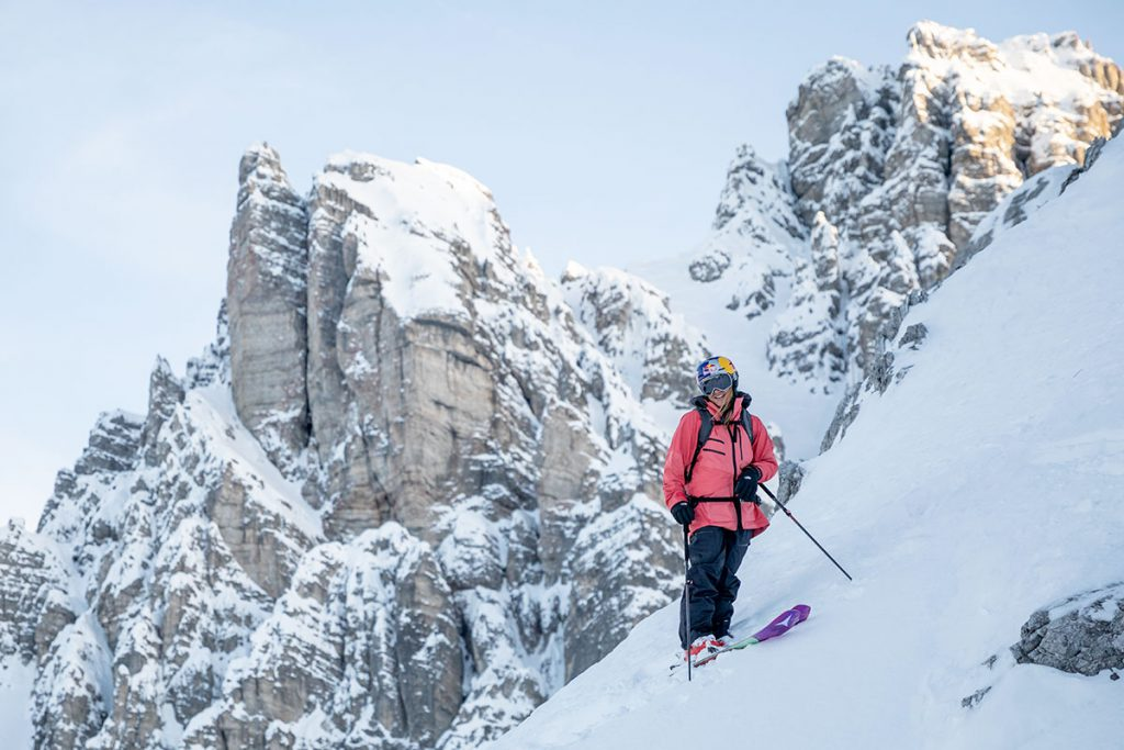 Well known for her bold and courageous style seeking to combine steep, technical skiing with freestyle elements, Arianna Tricomi has dominated the Freeride World Tour for last two seasons