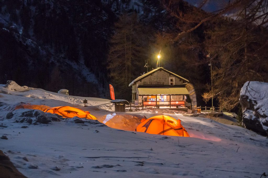 Sleeping in a tent on the snow? With Ferrino seeing is believing! Spend a night at high altitude outside Rifugio Toesca in Val Susa, Italy
