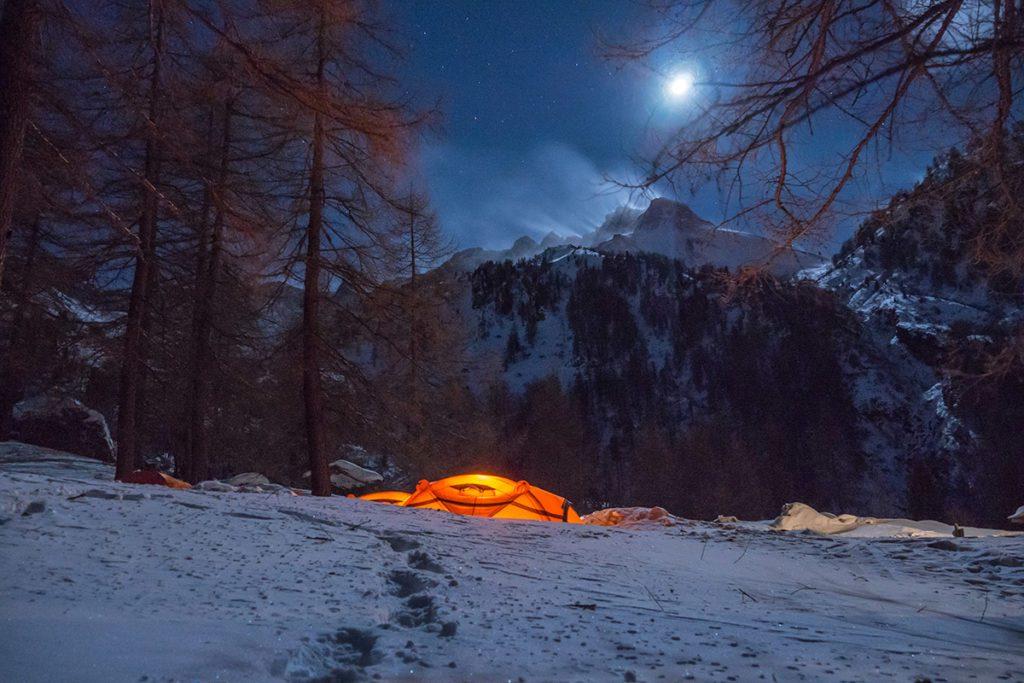 Il campo Ferrino HighLab presso il Rifugio Toesca in Val Susa