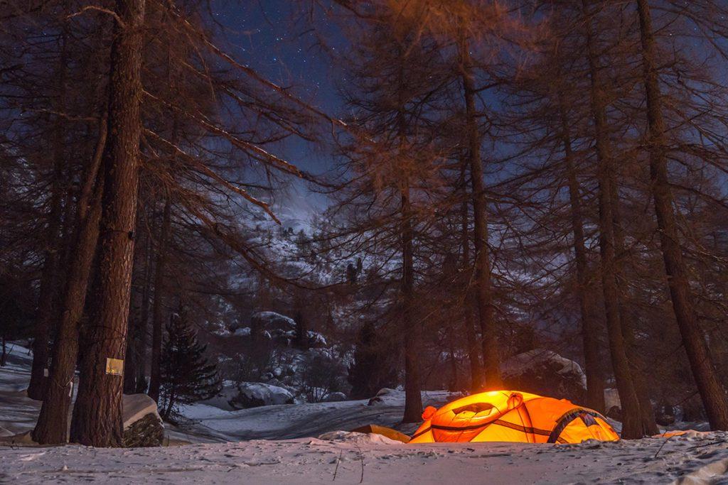 The Ferrino HighLab camp at  Rifugio Toesca in Val Susa, Italy