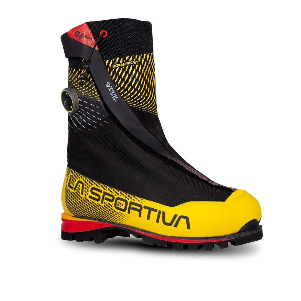 La Sportiva G5 Evo: technical boots for Himalayan expeditions with a double BOA® Fit closure System and Vibram Matterhorn sole represent the maximum evolution of modern mountaineering boots