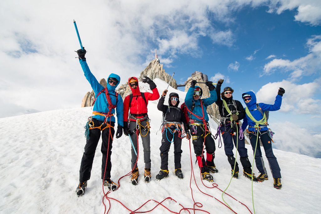 Arc'teryx Alpine Academy at Chamonix from 2 - 5 July 2020: for climbers of all abilities to learn more about climbing and alpinism directly on Mont Blanc © Piotr Drozdz