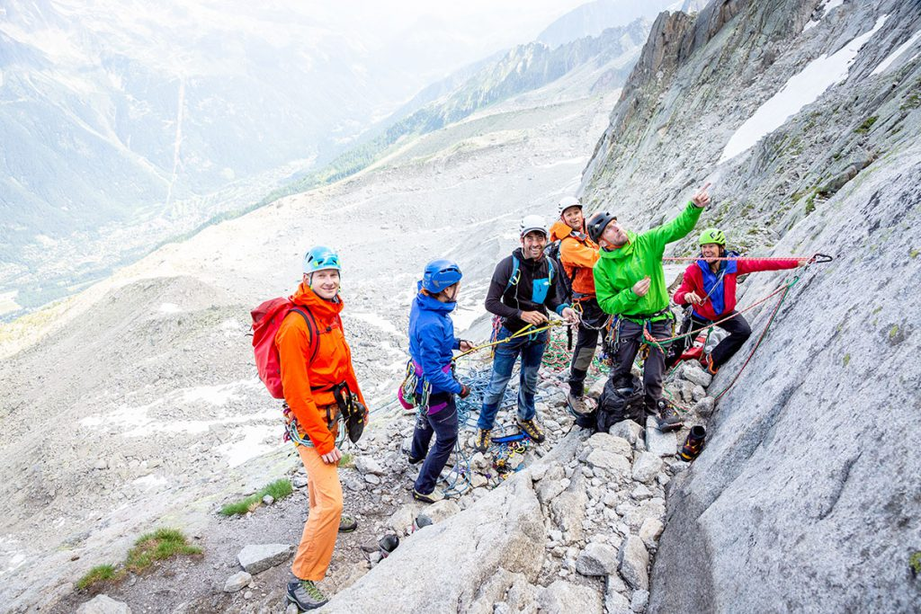 Arc'teryx Alpine Academy at Chamonix from 2 - 5 July 2020: for climbers of all abilities to learn more about climbing and alpinism directly on Mont Blanc © Quentin Iglesis