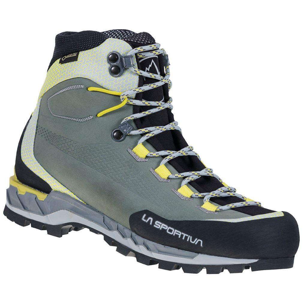 Scarponcino in pelle traspirante La Sportiva Trango Tech Leather GTX pensato per escursionismo alpino: particolarmente leggero, confortevole e durevole.