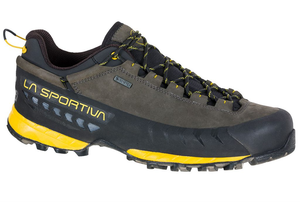 Lightweight and protective leather approach shoe La Sportiva TX 5 Low GTX dedicated to hikers looking for a technical product for hiking and via ferrata.
