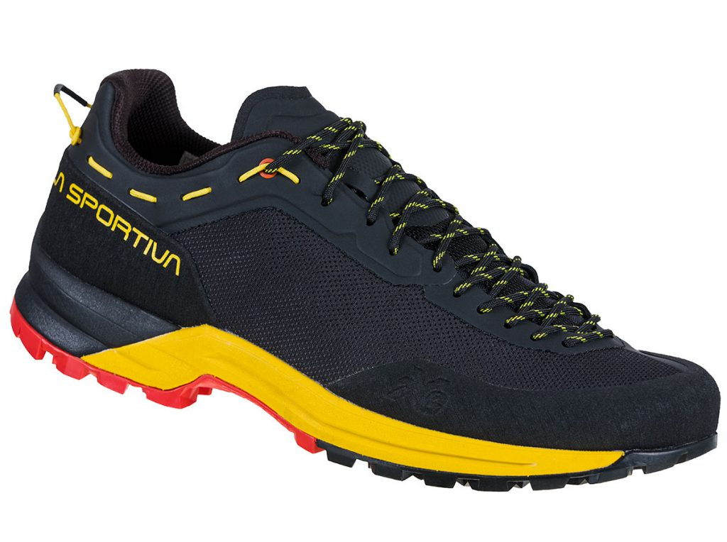 Climbing approach shoes La Sportiva TX Guide designed for mountain guides and mountain workers for approach routes and climbing.