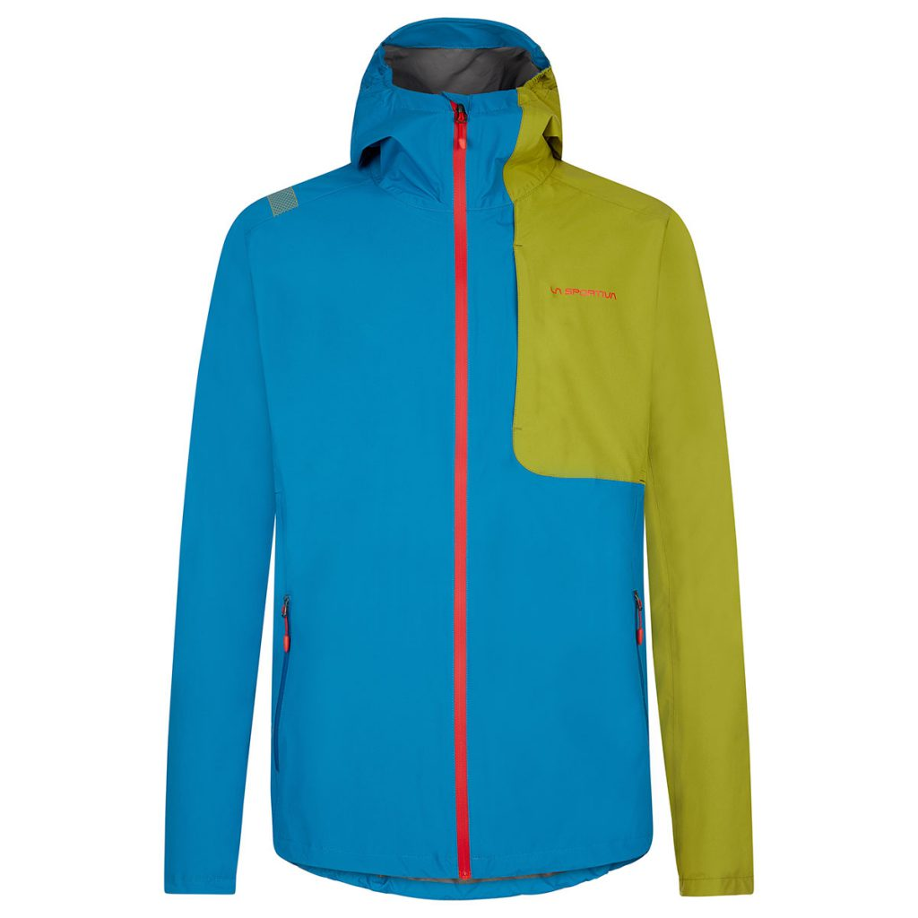 Lightweight waterproof jacket La Sportiva Rise JKT, breathable, with moldable visor construction and laser cut underarm ventilation