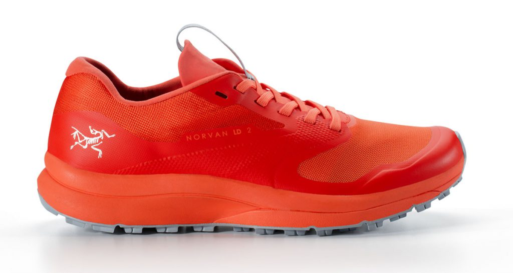 Trail running shoes Norvan LD 2 by Arc'teryx, stronger and lighter so that you can run farther