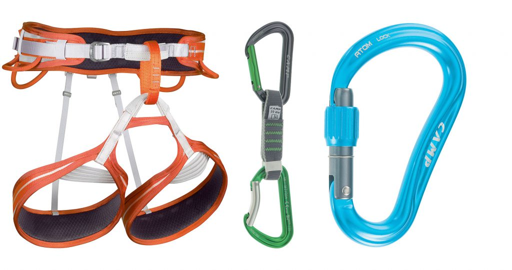 Be like Stefano Ghisolfi: choose from the wide selection of innovative C.A.M.P climbing gear: screwgate carabiner, quickdraw and climbing harness