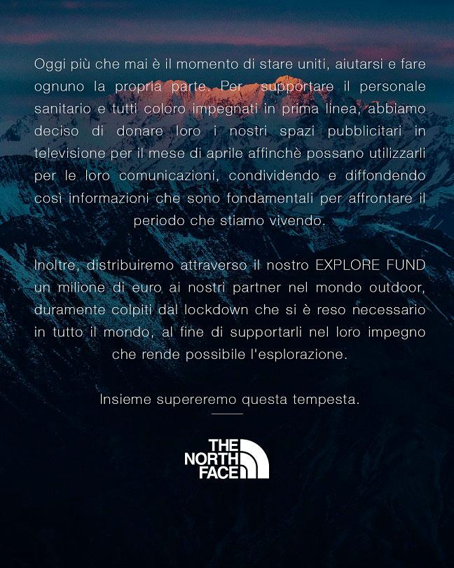 The North Face Explore Fund in campo con 1 milione di euro per sostenere le comunità outdoor colpite dall'emergenza Covid-19.