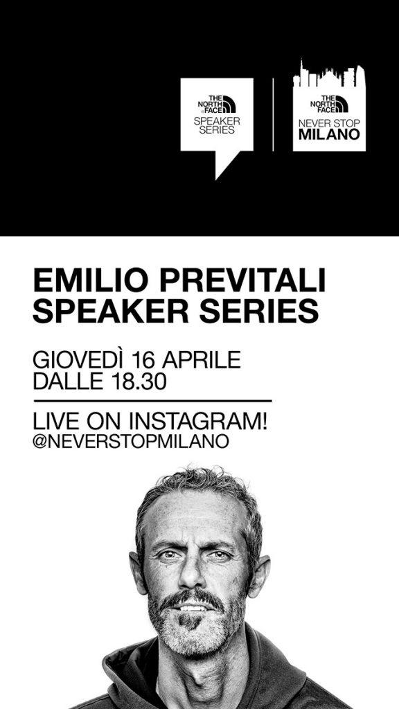 Giovedì 16 Aprile ore 18.30 The North Face Speaker Series con Emilio Previtali, alpinista, freerider, fotografo, giornalista e straordinario storyteller.
