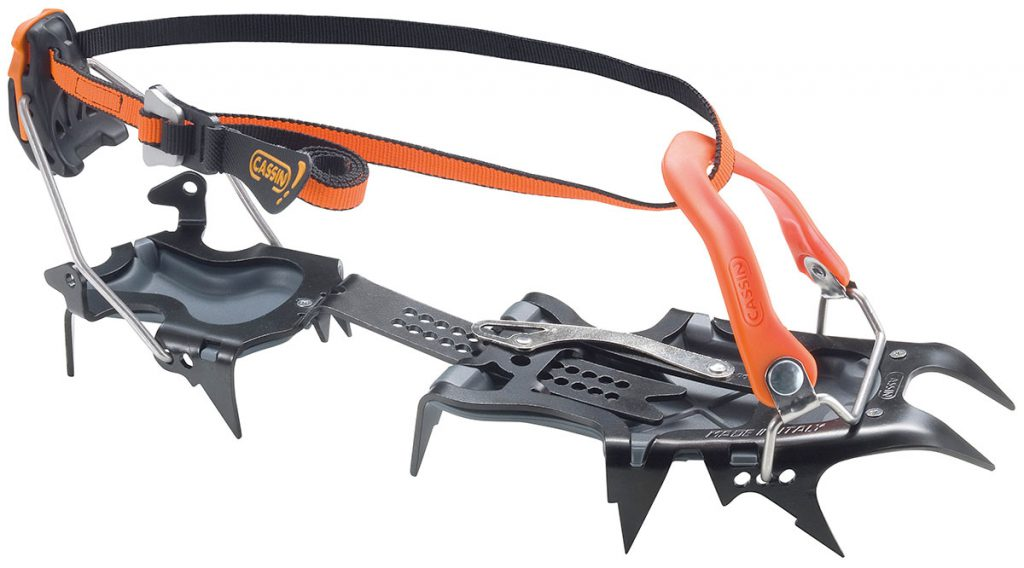 Crampons for mountaineering Cassin Alpinist Auto-Semiauto, the ultimate crampon for alpinism and climbing across technical mixed terrain