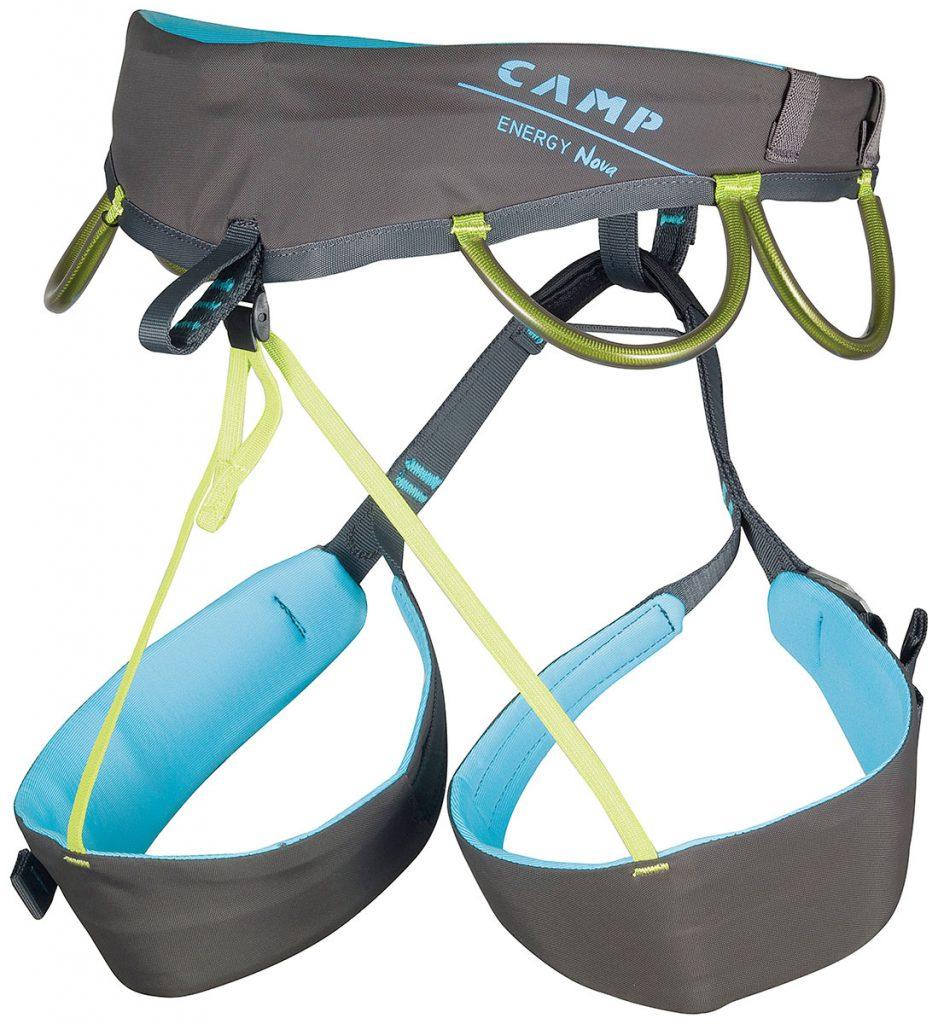 Imbracatura da donna Camp Energy Nova per arrampicata e alpinismo, Imbracatura specifica per le donne, estremamente comoda e leggera.