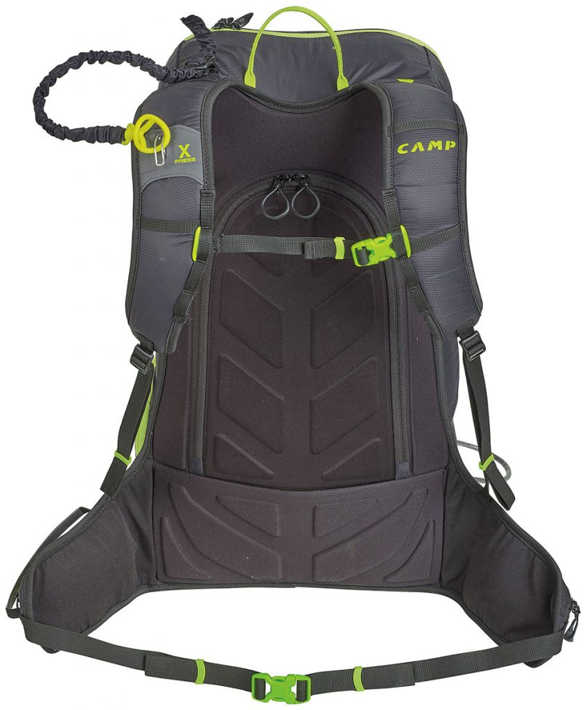 30 liter ski mountaineering backpack Camp Ski Raptor; a mere 920 grams, the next level freeride pack for fast and light backcountry skiing
