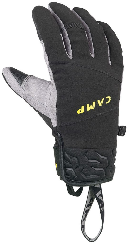 Ice climbing gloves CAMP Geko Ice Pro; ideal for mountaineering, mixed terrain, dry tooling, with waterproof / breathable membrane