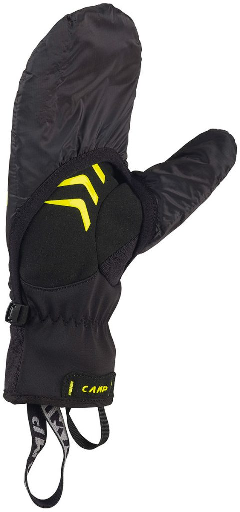 Ski mountaineering gloves CAMP G Comp Warm with lightweight PrimaLoft insulated overmitt with a ripstop nylon shell and palm pads for extra grip