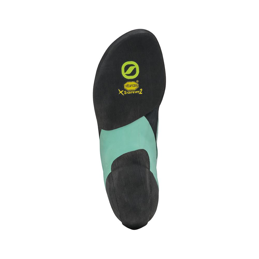 Scarpe da arrampicata donna SCARPA Instinct VS Donna in microfibra, con suola Vibram, chiusura con un singolo strap in Velcro