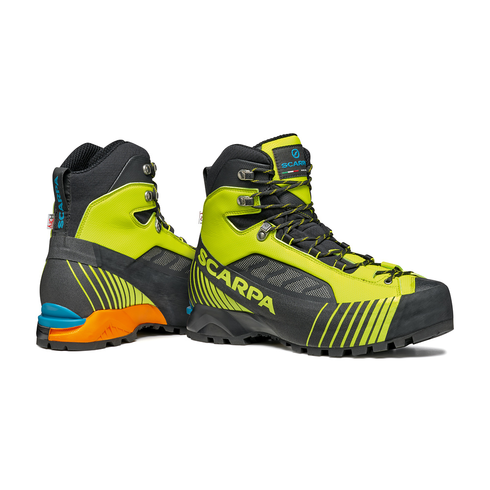 Lightweight mountaineering boots for fast and light technical mountaineering, via ferratas and challenging backpacking with heavy loads.