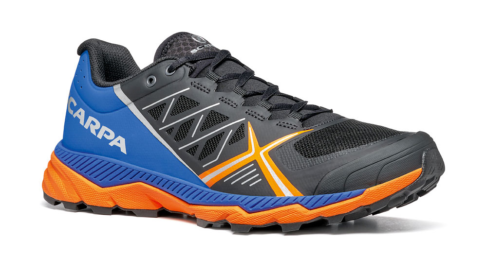 Lightweight trail running shoes SCARPA Spin RS, technical footwear for competitions, unparalleled protection, support and cushioning
