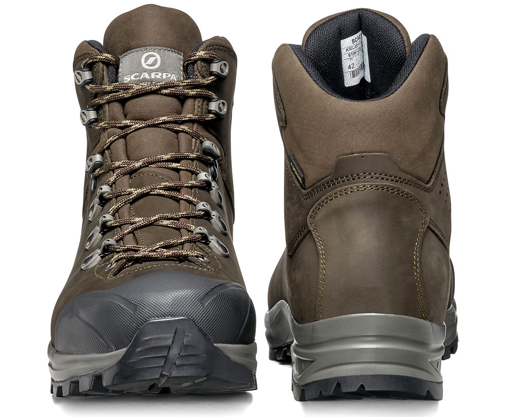 Scarpe da montagna SCARPA Kailash Plus GTX per trekking in pelle nabuk per massimo comfort con membrana impermeabile in GORE-TEX.