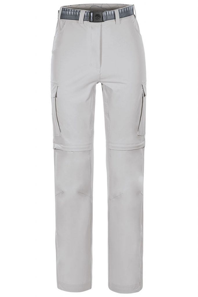Pantaloni per il trekking Ferrino Ushuaia Pant, convertibili in short ideali per trekking e viaggi impegnativi grazie anche al tessuto elasticizzato