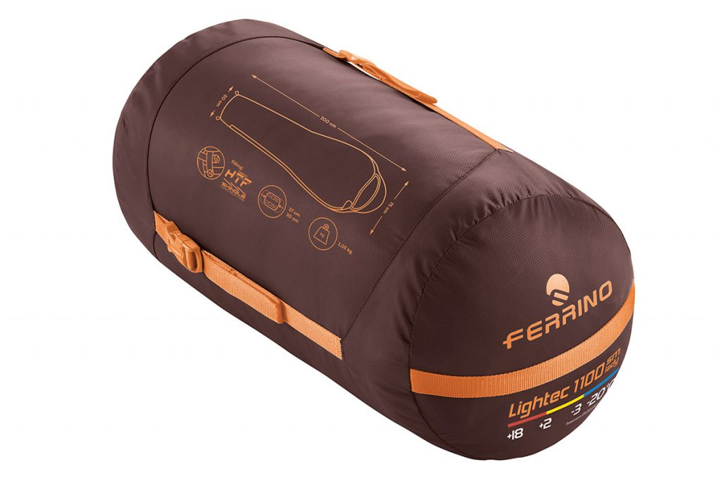 Women's Sleeping Bag Ferrino Lightec Shingle SM Lady, designed specially for those women more sensitive to cold conditions, with extra padding in the chest and feet areas.