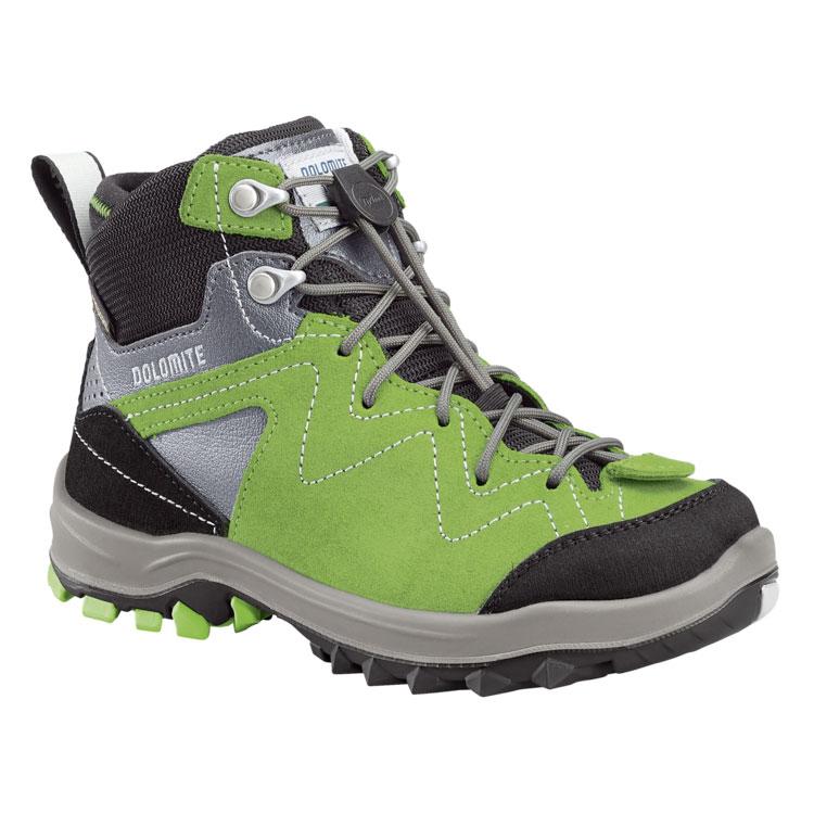 Scarpa da montagna per bambini Dolomite Steinbock. Ridisegnati per garantire estrema flessibilità, pensati per gli escursionisti più giovani.