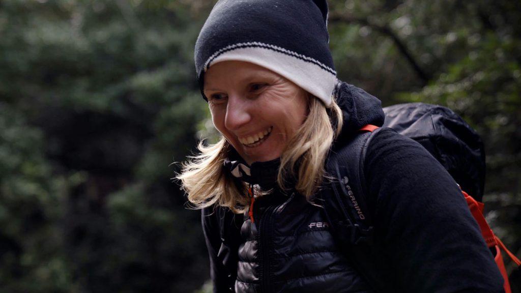 Polish rock climber Aleksandra Taistra