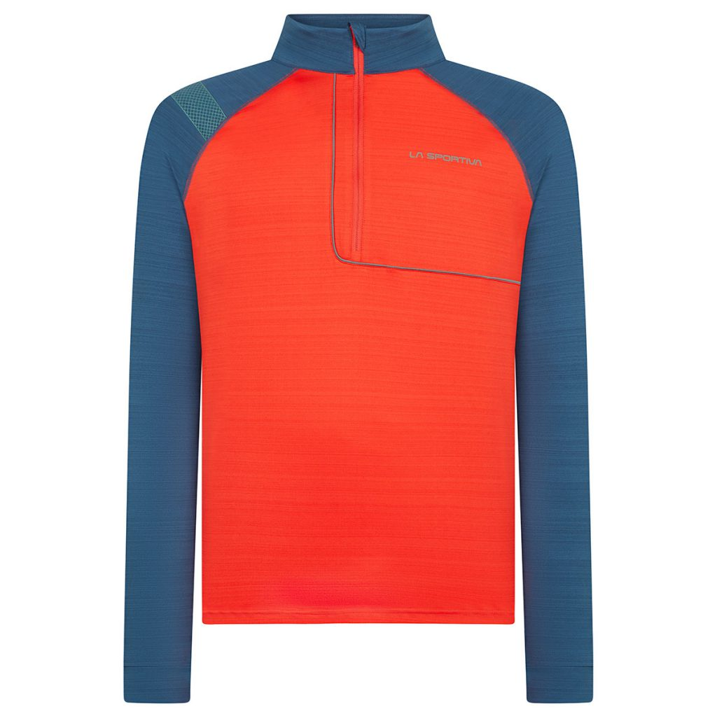 Maglia termica La Sportiva Planet Long Sleeve, un base layer next to skin traspirante con trattamento antibatterico e zip frontale
