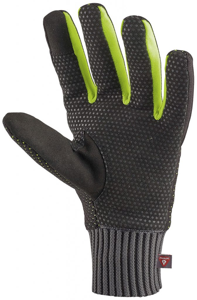 Waterproof ski mountaineering gloves CAMP K Warm with PrimaLoft insulation and silicone inserts on the palms that provide exceptional grip.