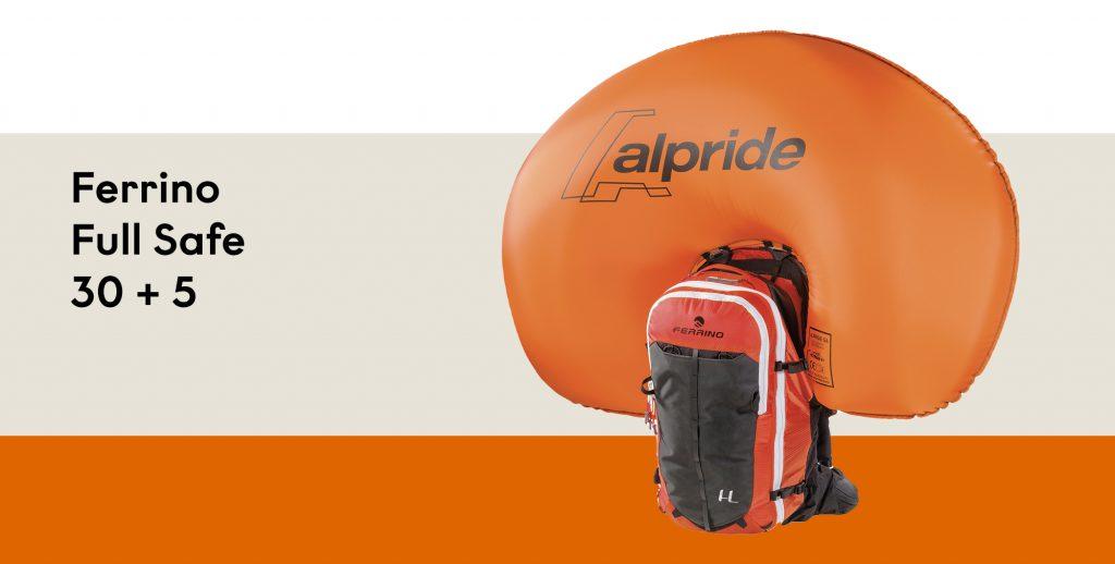 Zaino airbag Ferrino Full Safe 30 + 5: le migliori tecnologie per la sicurezza in montagna