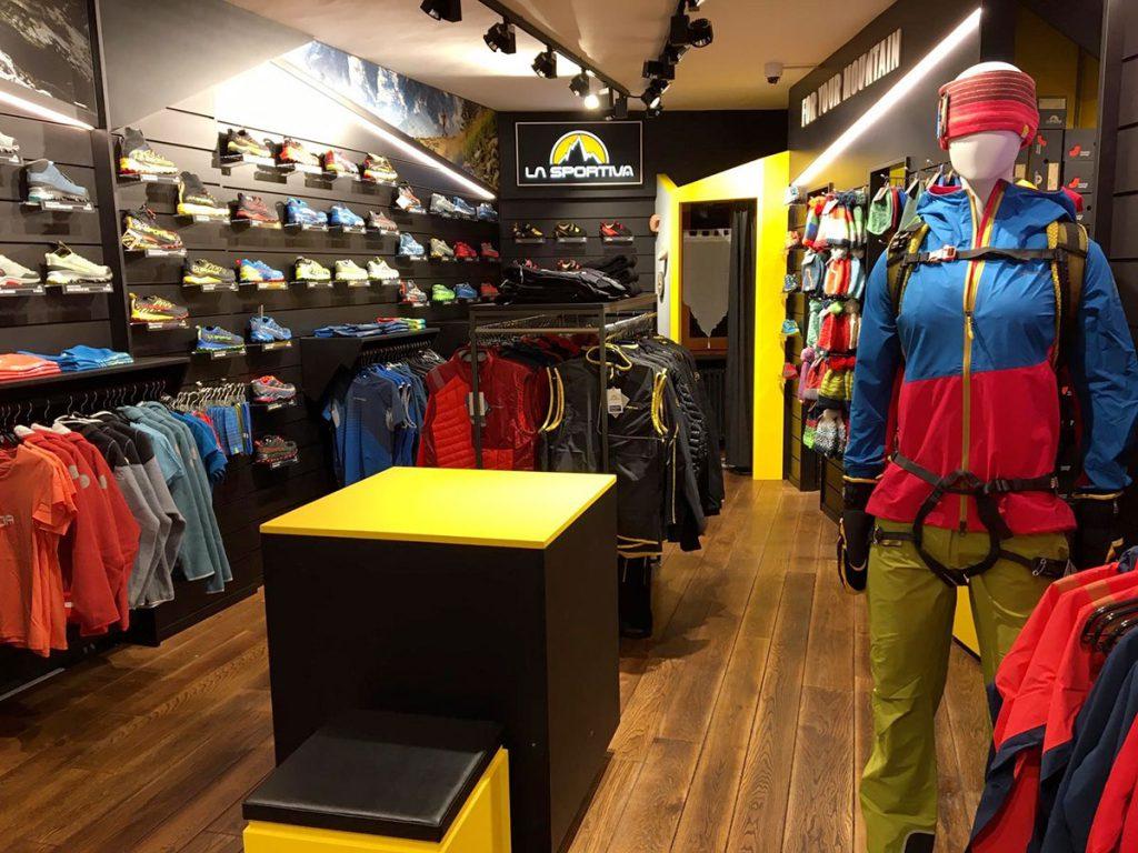 The new La Sportiva shop at Courmayeur, Valle d'Aosta, Italy.