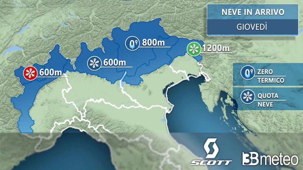 Il powder alert di SCOTT Italia powered by 3B Meteo