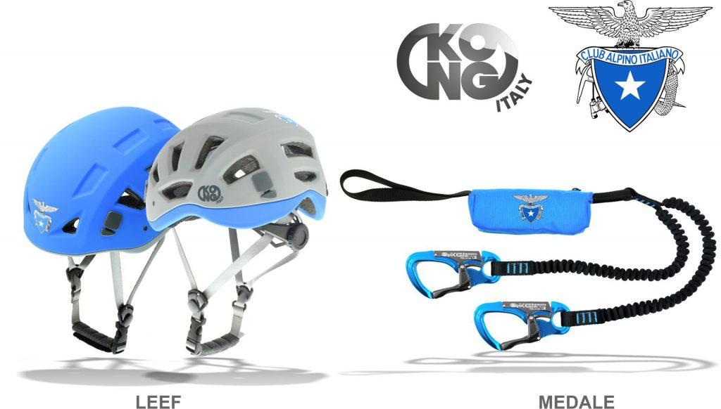 Kong annuncia un accordo con il Club Alpino Italiano per la produzione di prodotti tecnici a logo CAI: il casco Leef e il set ferrata Medale.