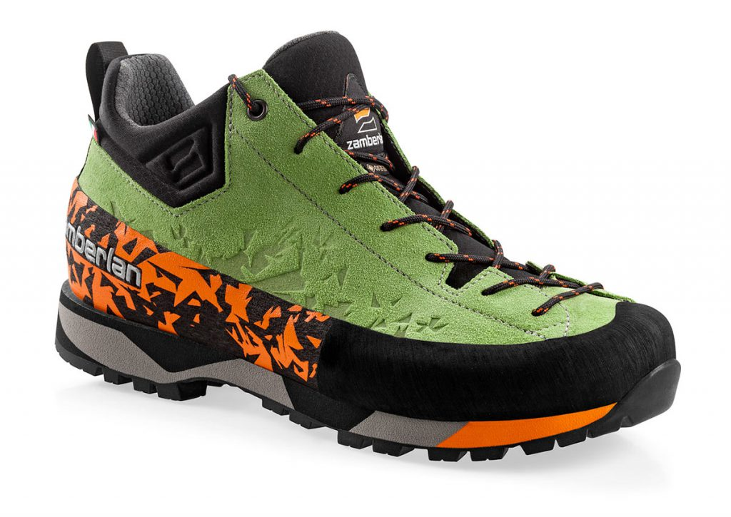 Approach and via ferrata shoes Zamberlan Salathé GTX, extremely comfortable and versatile, perfect for trekking and hiking, too.