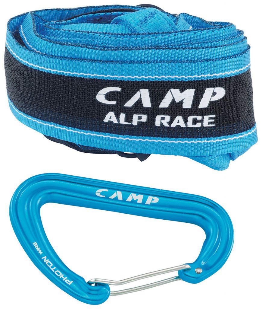 La nuova imbragatura CAMP Alp Race, con i suoi 68 grammi la più leggera al mondo.