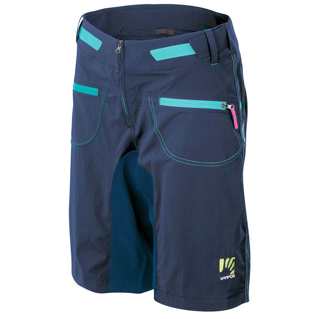 Mountain bike shorts for women Karpos Ballistic EVO W Short, ideal for trekking or adventure bike. A durable, comfortable and stretchy short.