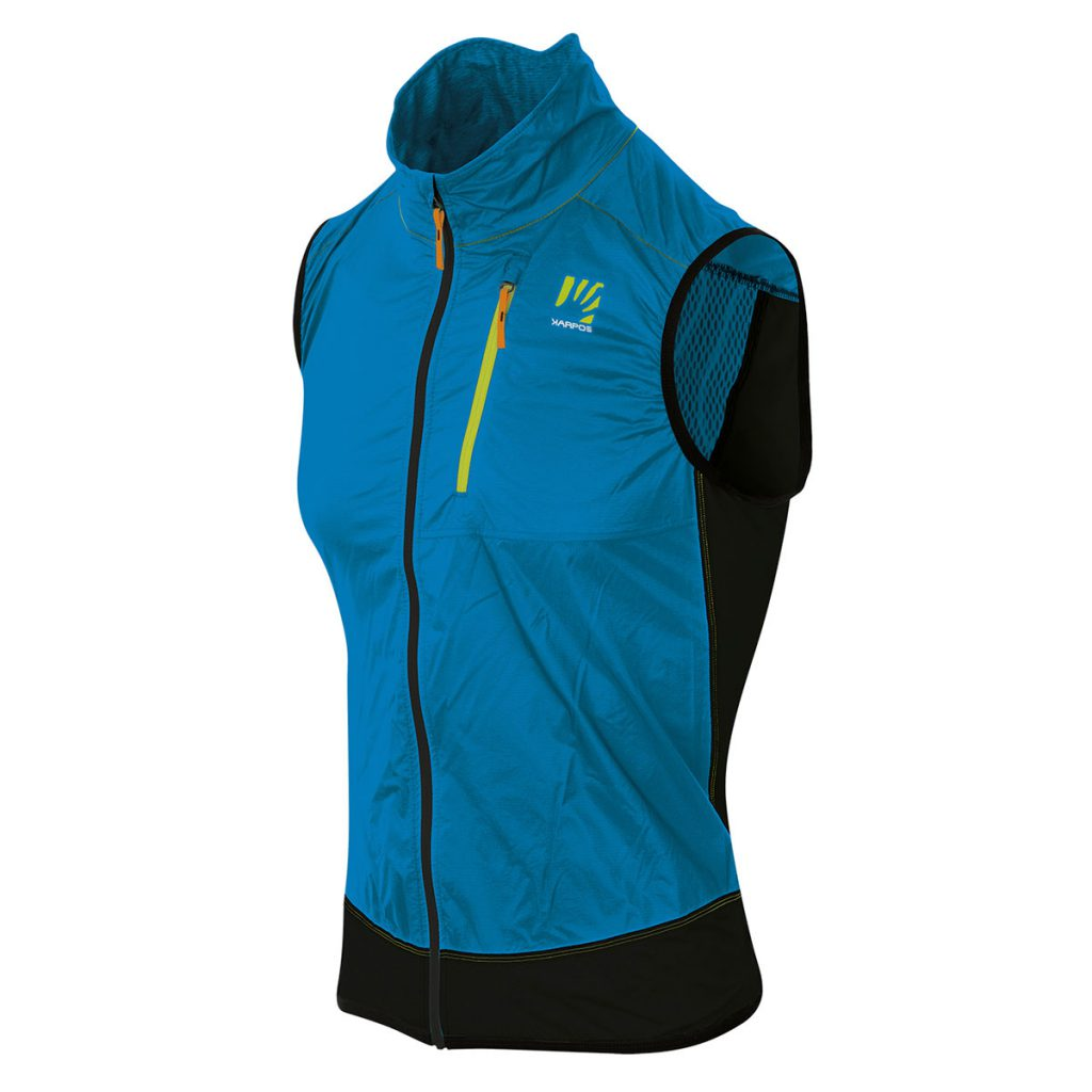 Technical trail running vest Karpos Lavaredo Vest, ideal also for adventure biking and other outdoor activities in moderate temperatures.