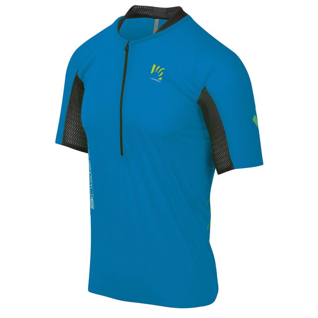 La T-shirt trail running in montagna Karpos Lavaredo Tech Jersey perfetta per affrontare i trail più impegnativi: avvolgente, morbida, traspirante.