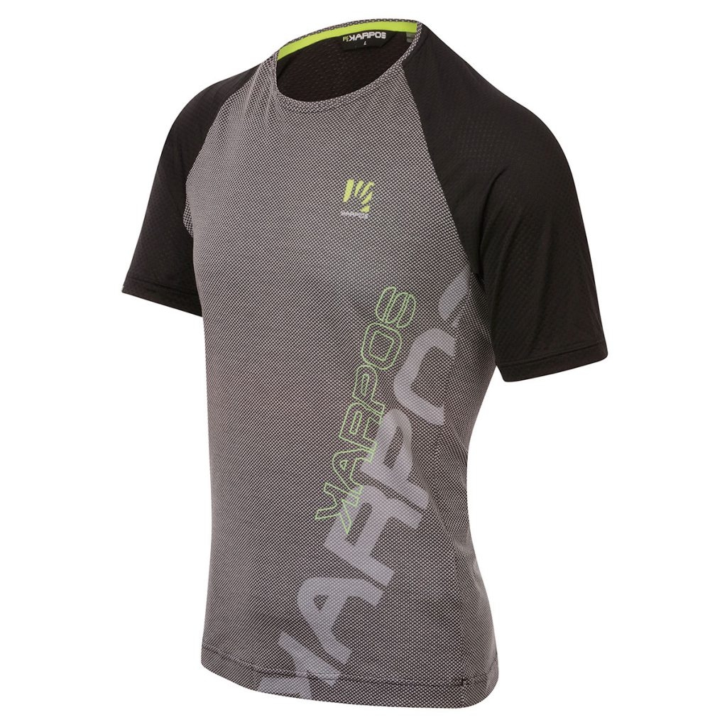Hiking T-shirt Karpos Moved Evo Jersey; cool and dry, it allows you to face conditions of even intense heat while running or hiking in the mountains.