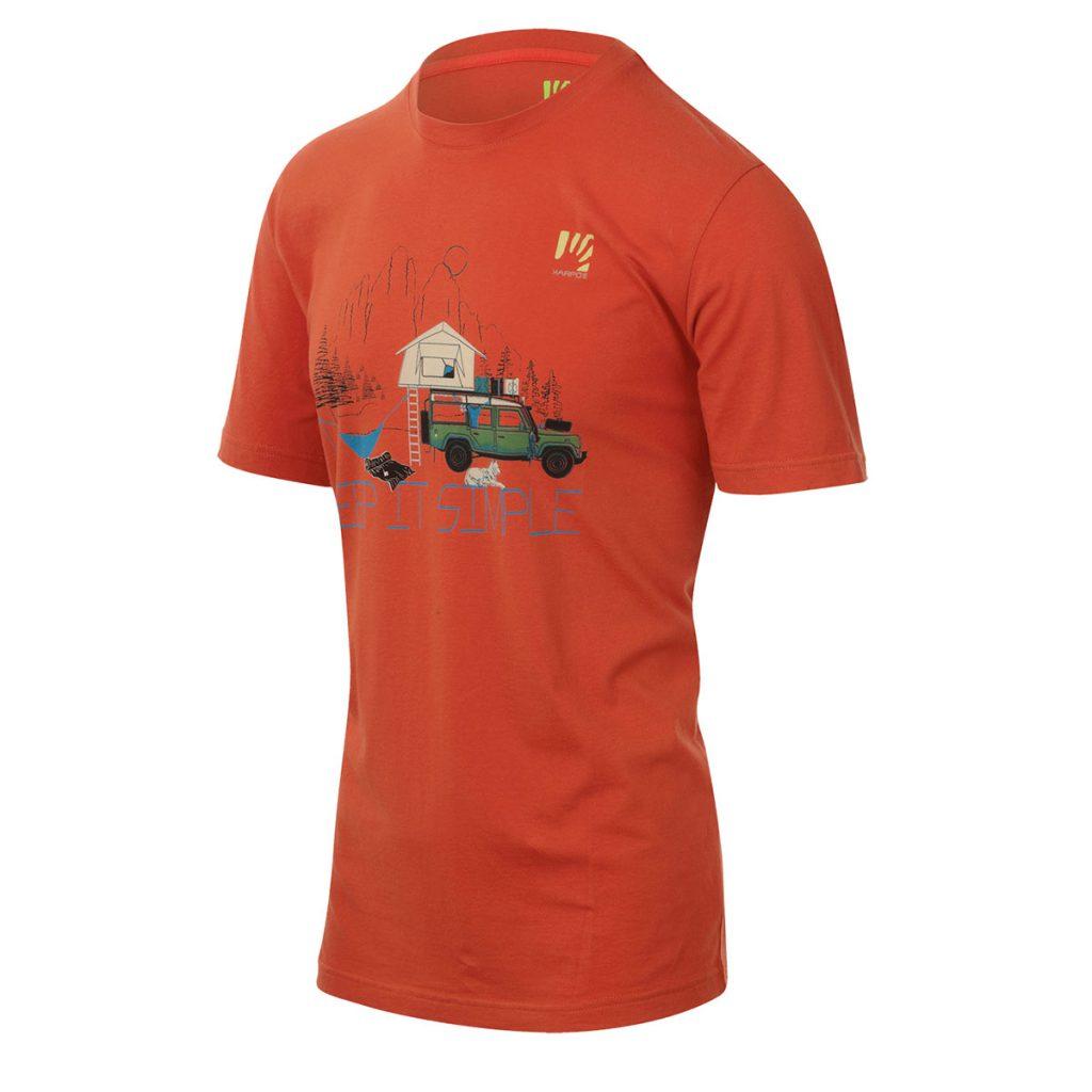 Maglietta Outdoor in cotone Karpos Genzianella T-Shirt, ideale da utilizzare in situazioni outdoor dove si vuole la morbidezza e il confort del cotone.