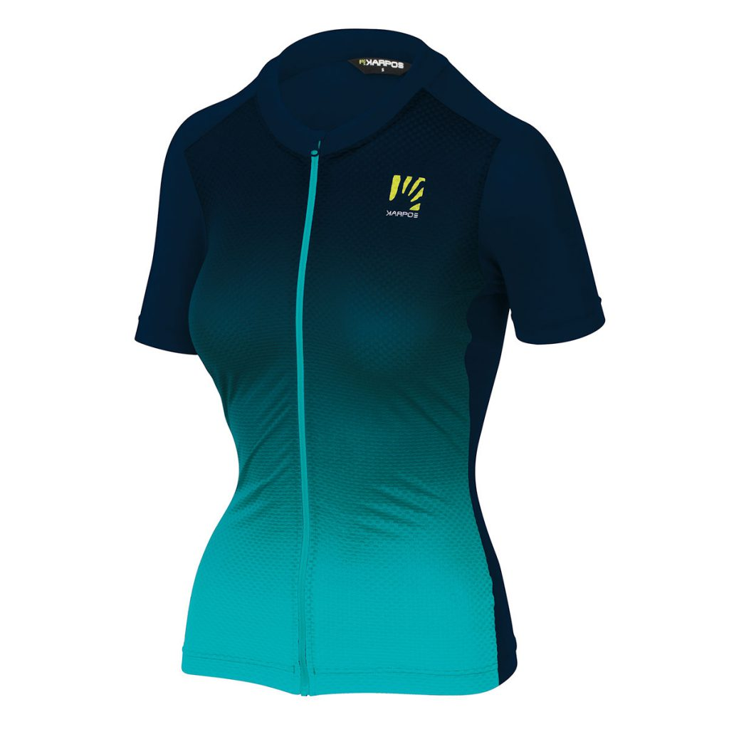 Mountain biking jersey Karpos Verve Evo W Jersey made with stretchy and breathable fabric  for your most demanding summer rides.