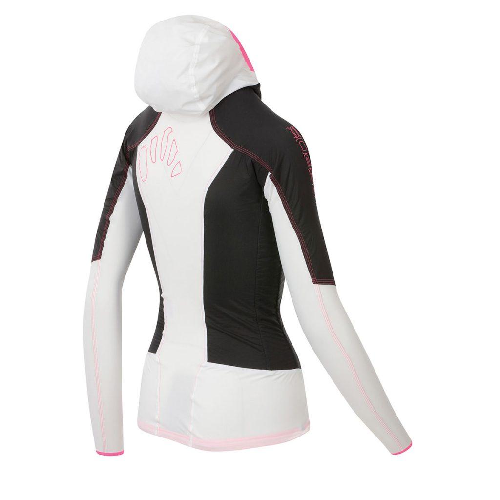 Giacca running e trekking Karpos Lavaredo W Jacket. Protezione dal vento e massima traspirabilità, per attività aerobiche con temperature medie.
