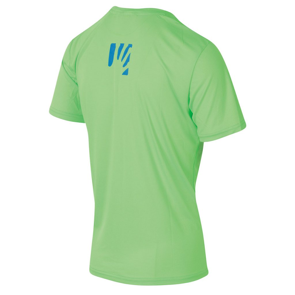 Comfortable mountain bike T-Shirt Karpos Val Federia Tee, for a day on the single track with your mountain bike and backpack.