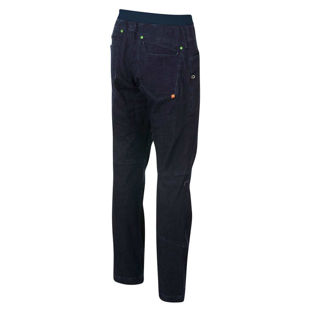 Climbing pants Karpos Faggio Jeans Pant Pant designed for climbing, offering full freedom of movement on the wall, perfect for travel or casual wear.